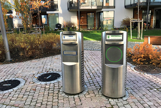 In residential and urban environments automated vacuum waste collection systems contribute to: